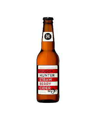 Hugo+Hunter Strawberry Cider case of 24 Fruit Flavoured Cider 330mL