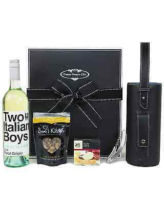 Pamper Hamper Gifts Two Italian Boys Pinot Grigio & Wine Bag Hampe Hapmers