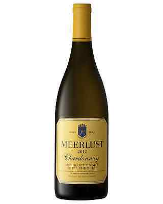 Meerlust Chardonnay 2012 case of 6 Dry White Wine 750mL Western Cape