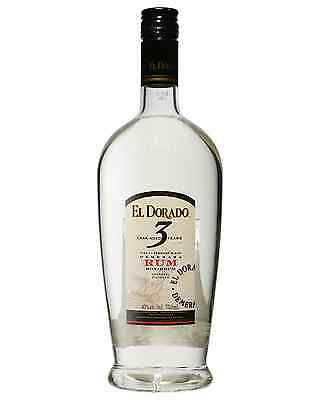El Dorado 3 Year Old White Rum 750mL bottle