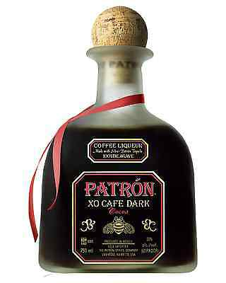Patron XO Dark Cocoa 750mL case of 6 Tequila Liqueur Coffee Liqueurs Jalisco
