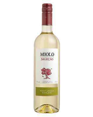 Miolo Selecao Pinot Grigio Riesling 2015 case of 6 Dry White Wine 750mL