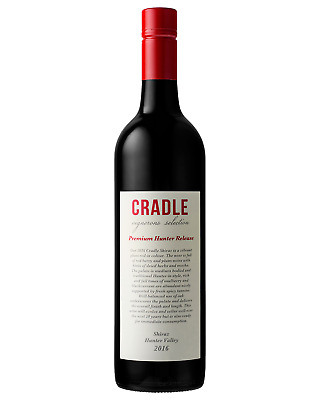 Cradle Shiraz 2016 case of 6 Dry Red Wine 750mL Hunter Valley