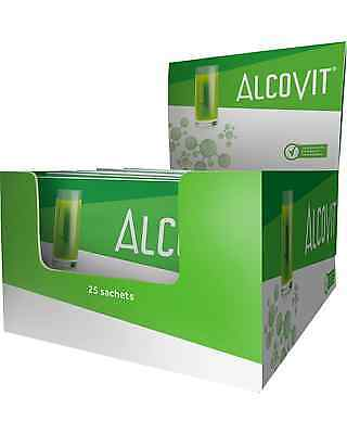 Alcovit Hangover Prevention 25 x 15g Sachet Box Bar Acessories