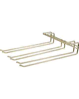 Barware Brass Triple Row Glass Hanging Rack Bar Accessories
