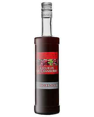 Vedrenne Liqueur de Cranberry 700mL case of 6 Fruit Liqueurs Burgundy