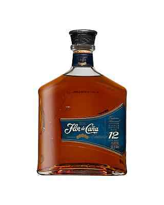 Flor de Cana 12 Year Old Rum 700mL case of 6 Dark Rum