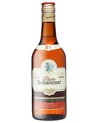 Barbancourt 3 Star Old Rum 4 Years Old 700mL case of 6 Dark Rum