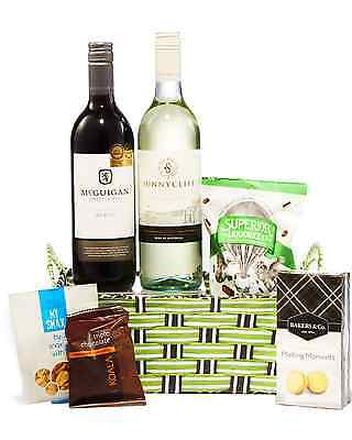 Hampers with Bite Red & White Gift Basket Hamper