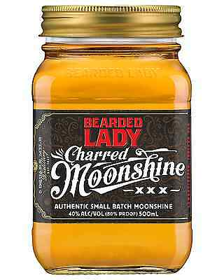 Bearded Lady Charred Moonshine 500mL case of 6 American Whisky