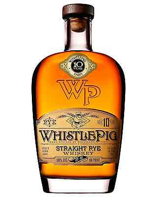 Whistle Pig 10 Year Old Rye Whiskey 700mL case of 6