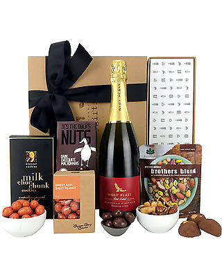 Byron Bay Gifts Bubbles and Bites Hamper Dry Red 750mL