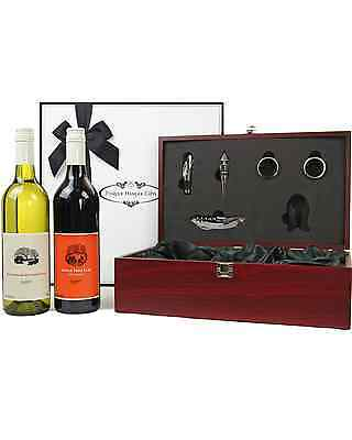 Pamper Hamper Gifts Double Wine in a Mahogany Box Corporate Gift Hamper Hapmers