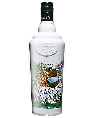 Pages Ananas Coco Liqueur 700mL case of 6 Fruit Liqueurs Burgundy