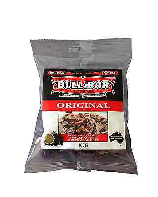 Bullbar Beef Jerky Original 100g x 10 packets (1kg) Food
