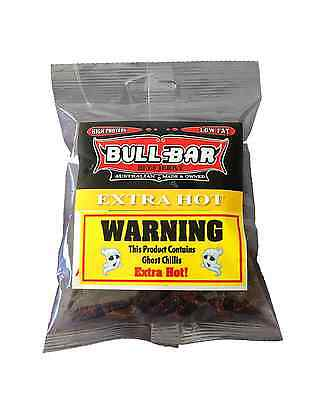 Bullbar Beef Jerky Extra Hot 100g x 10 packets (1kg) Food • AUD 117.95