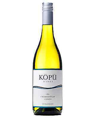 Kopu Chardonnay 2015 case of 12 Dry White Wine 750mL Gisborne