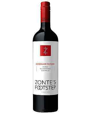 Zonte's Footstep Chocolate Factory Shiraz 2015 case of 12 Dry Red Wine 750mL