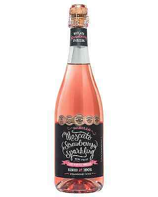 Rebello Wines Moscato Strawberry Sparkling 2016 case of 6 Sparkling Sweet Wine