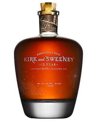 Kirk & Sweeney 12 Year Old Rum 750mL case of 6
