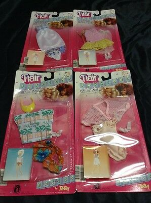 "Lot Of 4 Flair Totsy Fashions 1980's For 11-1/2"" Dolls"