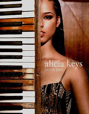 Alicia Keys 2004 Diary U.s. Tour Concert Program Book / Excellent 2 Near Mint