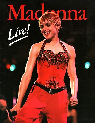 Madonna 1987 Who's That Girl Tour Program Book / With Poster / Ex 2 Near Mint