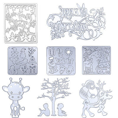 Christmas Metal Cutting Dies Stencil For DIY Scrapbooking Album Paper Card Craft