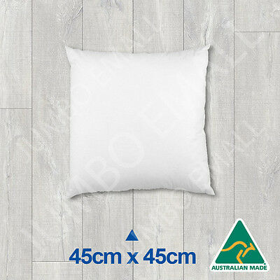 Aust Made Cushion Insert Polyester Premium Lofty Fibre---45cm x 45cm