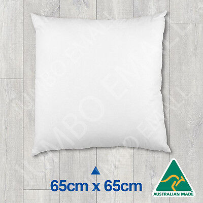 Aust Made Cushion Insert Polyester Premium Lofty Fibre-65cm x 65cm