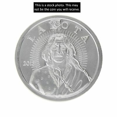 2013 1 Troy Ounce LAKOTA Silver Round .999 Indian Chief Crazy Horse & Buffalo