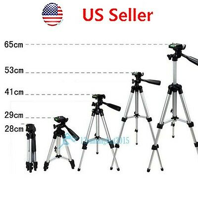 Aluminum Portable Camera Camcorder Tripod Stand w/ Bag Holder For Canon Nikon