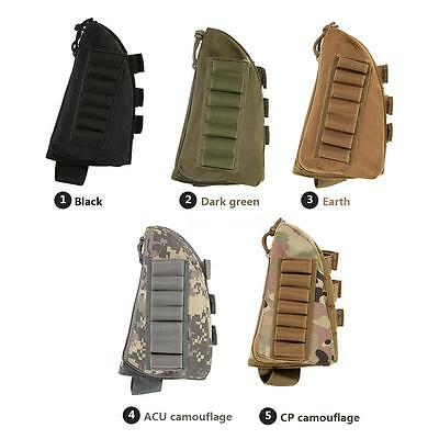 Buttstock Pouch Tactical Hunting Pouch Holder Carrier Military Cheek Pad P1K4