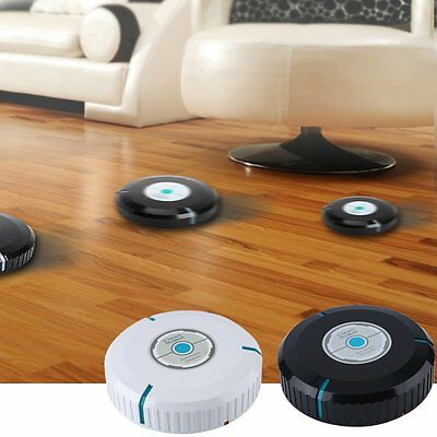 Home Smart Auto Robotic Dust Vacuum Robot Floor Cleaner Mop Sweeper Black Mini F