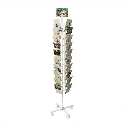 Spinning Greeting Post Birthday Christmas Holiday Card Rack Stand 11704-WHITE