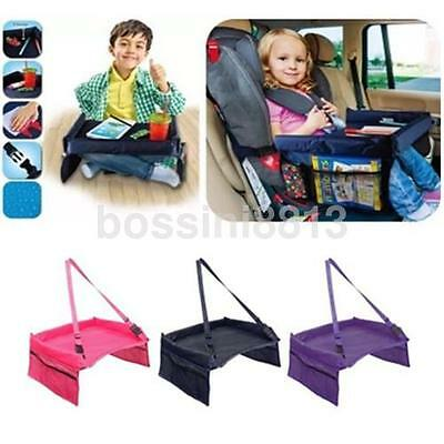 Multicolor Waterproof Car Seat Table Baby Kid Safety Playing Travel Tray Board U