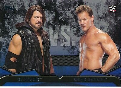 #6 AJ STYLES vs CHRIS JERICHO 2016 Topps WWE Then Now Forever WWE RIVALRIES