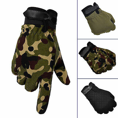 SUP Men Military Tactical Airsoft Shooting Hunting Full Finger Gloves 3 Size