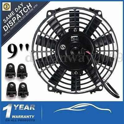 9'' Universal Electric Cooling Radiator Fan Straight Blade 12V 80W Pull/Push