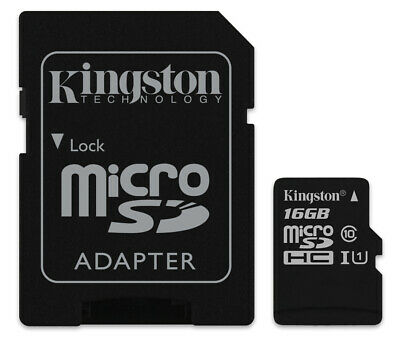 16GB Kingston micro SD HC Memory Card For Olympus VN-712PC Voice Recorder