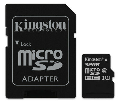 32GB Kingston micro SD HC Memory Card For Olympus WS-831 Voice Recorder