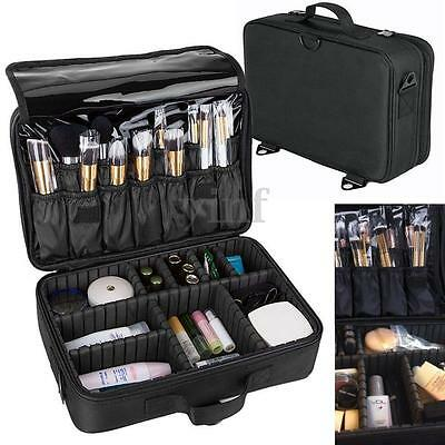 "13.5"" Makeup Brush Bag Case Cosmetic Storage Handle Organizer Artist Travel Kit"