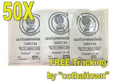 50X25 g MILK TABLET SWEETENED FLV CHITRALADA ROYAL TOFFEE MILK CANDY THAI +TRACK