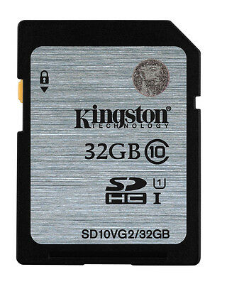 32GB Kingston SD SDHC Memory Card For Nintendo Wii U Gaming Console