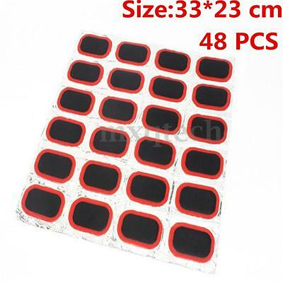 48pcs Cycling Bicycle Bike Tyre Tire Inner Tube Puncture Repair Rubber Patches