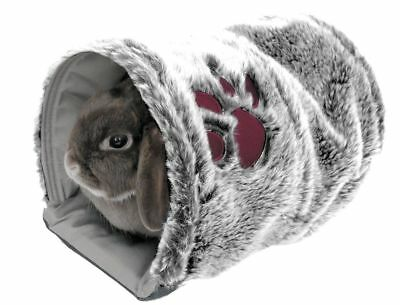 Rosewood Pets Reversible Plush Snuggle Tunnel - Cage Hutch Bed Rabbit Guinea Pig