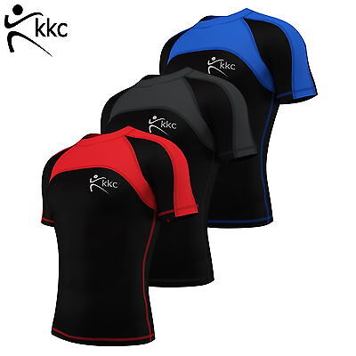 Mens Compression Base Layer Top Armour Skin Fit Gym Half Sleeve Sport Shirt