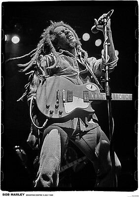BOB MARLEY Poster Size 84.1cm x 59.4cm-approx 34''x 24''