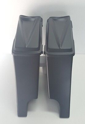 """6"""" Stretched Saddlebags 6.5 #3 Lids Dual Exhaust For Harley Davidson Baggers"""