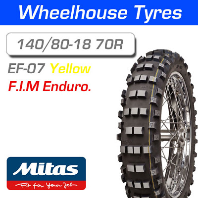Mitas EF-07 Super 140/80-18 70R Yellow Stripe F.I.M Enduro